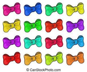 banner, lila, geschenkband, schleife, hintergrund., freigestellt, satz, weihnachten, vektor, grün, elemente, gelber , feiertag, rosa, groß, blaues, rotes , decoration., orange, dekorativ, dekor, geschenk, weißes