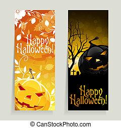 banner, satz, halloween