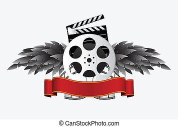 banner, spule, film, flügel , &