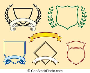 Banner und Logoelemente