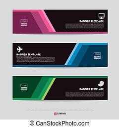 Bannerdesign für Geschäftspräsentation.