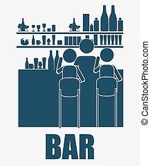 Bar, Desing, Vektorgrafik.