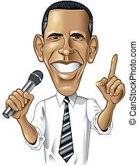 Barack Obama-Karikatur
