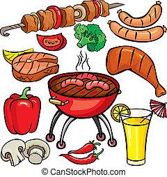 Barbecue-Icon-Set