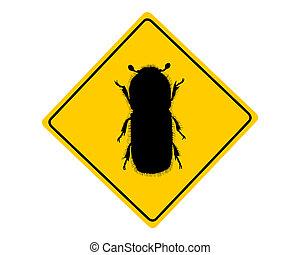 Bark-Beetle-Warnzeichen.