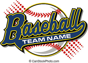 Baseball-Design mit Schwanz.