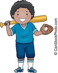 Baseball-Junge.