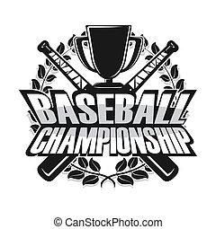 Baseball Meisterschaft Monochrom.