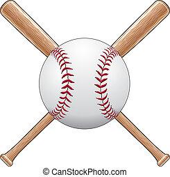 Baseball mit Schlägern