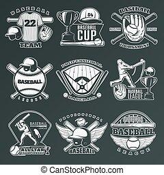 Baseball monochrome Embleme.
