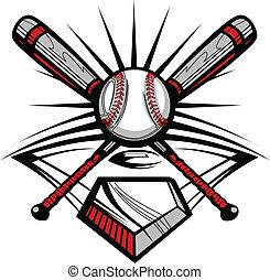 Baseball oder Softball haben Fledermäuse gekreuzt