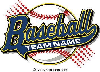 baseball, schwanz, design