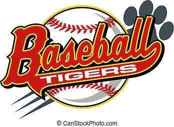 baseball, tiger