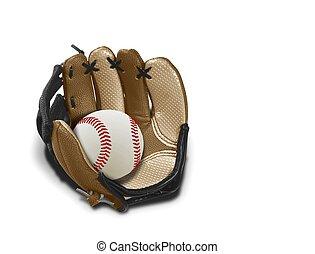 Baseballhandschuh und Ball