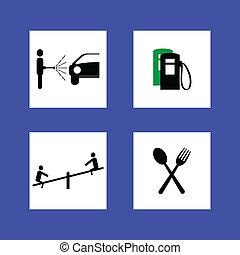 basierend, zeichen & schilder, dienstleistungen