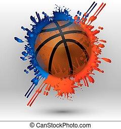 basketball, flecke