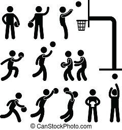 Basketball-Spieler-Leute unterschreiben