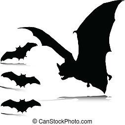 Bat-schlechter Vektor-Silhouettes