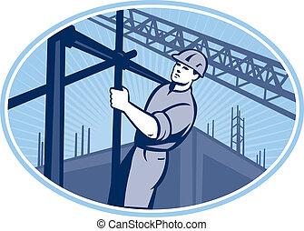 Bauarbeiter-Caffolding Retro