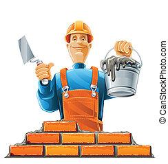 Bauarbeiter im Helm