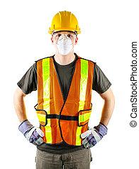 Bauarbeiter in Sicherheit