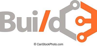 Bauen Sie Technologie-Logo Design Vorlage Vektor.