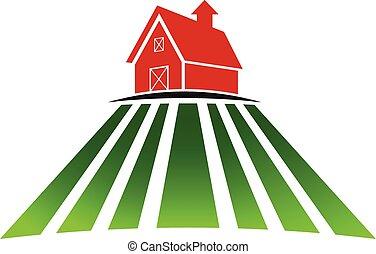 Bauernhaus mit Logo.