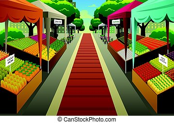 Bauernmarkt Hintergrundbild.