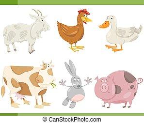 Bauerntier-Karikaturen illustrieren.