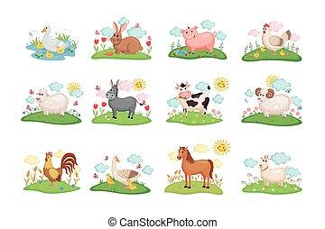 Bauerntiere bereit