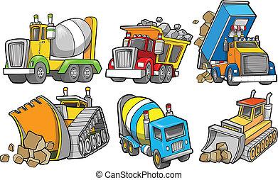 Baufahrzeugvektor bereit