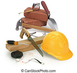 baugewerbe, werkzeuge, materialien