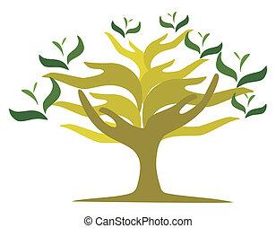 Baum der offenen Hände
