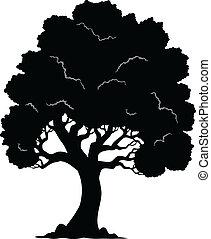 Baum geformt, Silhouette 1