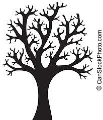 Baum geformt, Silhouette 4