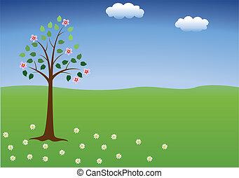 Baum in Blüte.