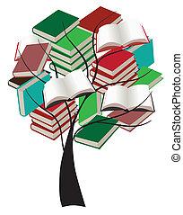 Baum mit Büchern