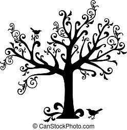 Baum mit Draht