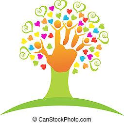 Baum mit Kinderhand-Logo