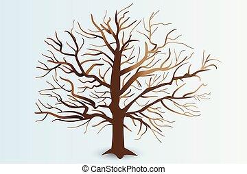 Baum mit stilisierten Zweigen Logo.