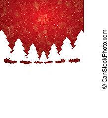 Baum-Schneesterne roter weißer Hintergrund