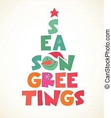 baum, typographical, weihnachten