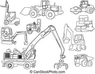 Baumaschinen - Vektor