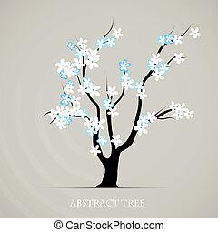 Baumblüte, Frühlingsvektorkunst. Plantage abbrechen