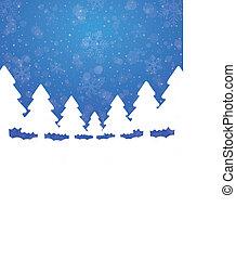 Baumschneestern, blauer weißer Hintergrund