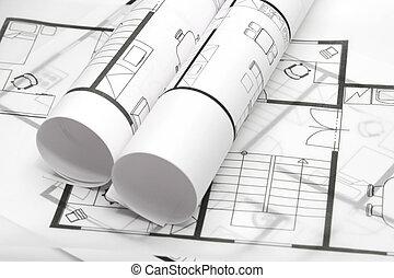 Baupläne der Architektur