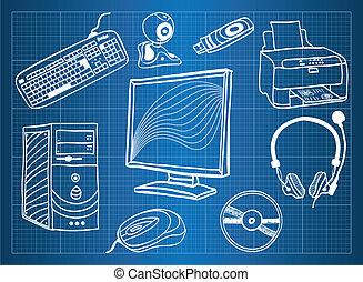 Baupläne von Computer Hardware - periphere Geräte