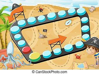 Beach-Board-Spiel.