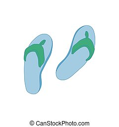 Beach-Schuhe-Ikone, Zeichentrickfilm.
