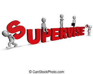 Beaufsichtigende Charaktere zeigen Führungsqualitäten und Aufsicht